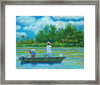 Fishing On The Cooper Framed Print