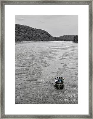 Fishing On The Delaware Framed Print by Lee Dos Santos