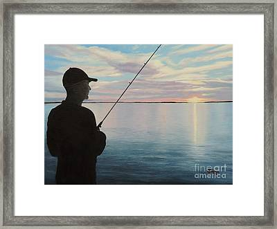 Fishing On The Flats Framed Print