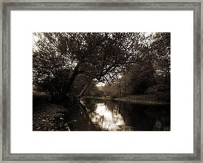 Fishing On The Genegantslet, Smithville Flats Framed Print