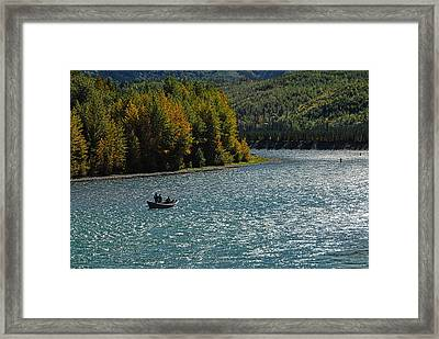 Fishing On The Kenai River Framed Print by Dyle   Warren