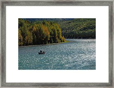 Fishing On The Kenai River Framed Print