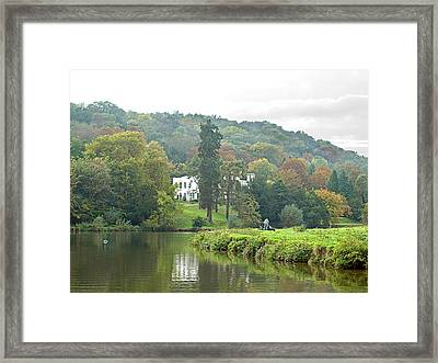 Fishing On The River Thames Framed Print by Gill Billington