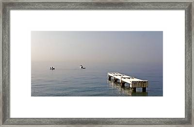 Fishing On The Riviera Framed Print by Jenny Hudson