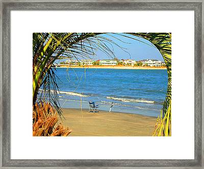 Fishing Paradise At The Beach By Jan Marvin Studios Framed Print