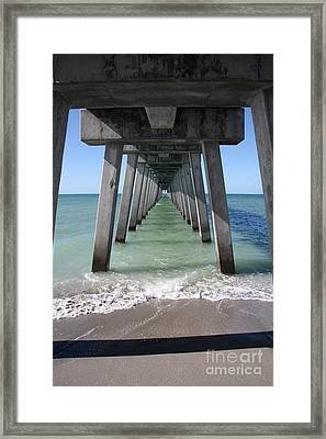 Fishing Pier Architecture Framed Print