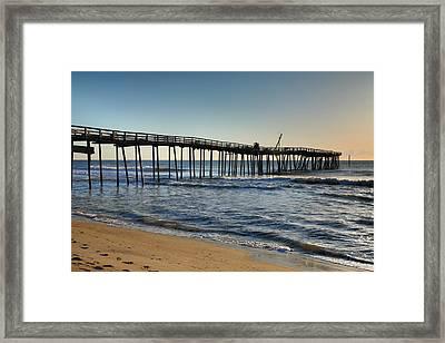 Fishing Pier I Framed Print by Steven Ainsworth