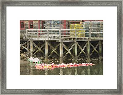 Fishing Pier In Tenants Harbor Maine Framed Print by Keith Webber Jr