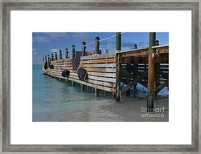 Fishing Pier Framed Print by Judy Wolinsky
