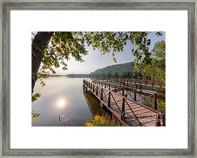 Framed Print featuring the photograph Fishing Pier Morning by Kari Yearous