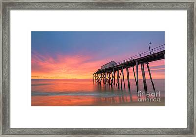 Fishing Pier Sunrise 16x9 Framed Print