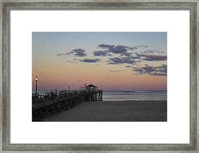 Ocean Grove Nj Fishing Pier Framed Print by Terry DeLuco