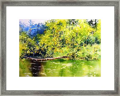 Fishing Pond Framed Print