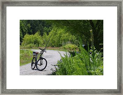 Fishing Ride Framed Print