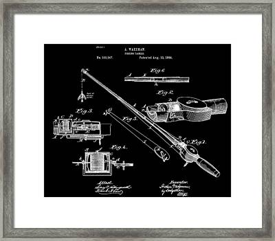 Fishing Rod Patent Framed Print