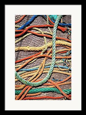 Old Fishing Gear Framed Prints