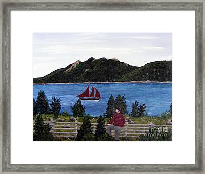 Framed Print featuring the painting Fishing Schooner by Barbara Griffin
