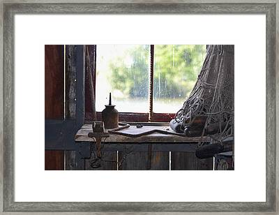 Fishing Shack 2 Framed Print by Bill Mock