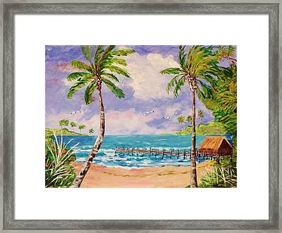 Fishing Shack Framed Print