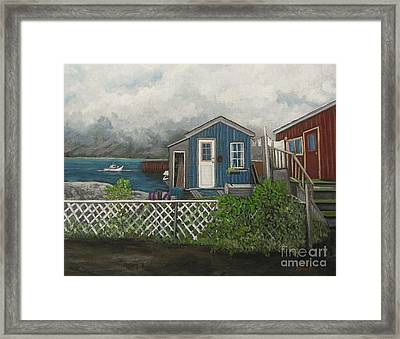 Fishing Shacks Alaska Framed Print by Reb Frost