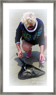Fishing Framed Print by Sharon Burger