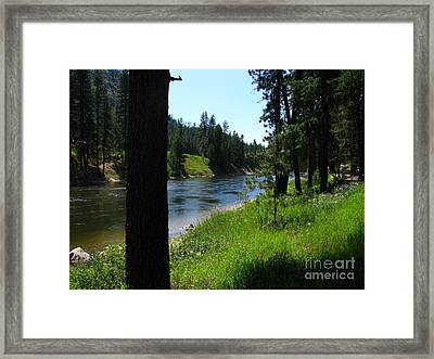 Fishing Spot 1 Framed Print by Greg Patzer