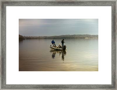 Fishing Framed Print by Steven  Michael