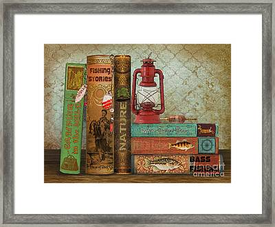 Fishing Storie Framed Print by Jean Plout
