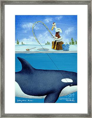 Fishing Stories ... The Orca .. Framed Print by Will Bullas