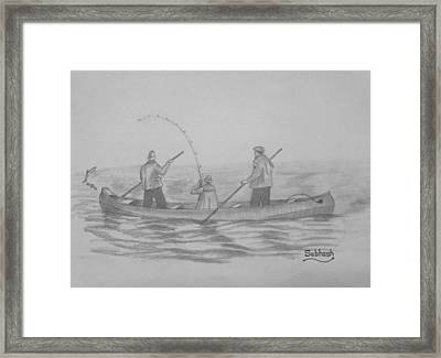 Fishing..... Framed Print by Subhash Mathew