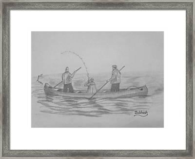 Fishing..... Framed Print by Subhash Mathew