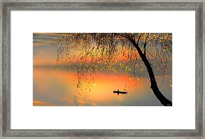 Fishing Sunset Framed Print by Igor Zenin