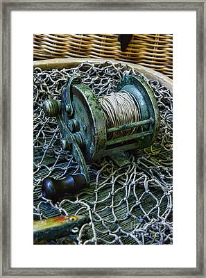 Fishing - That Old Fishing Reel Framed Print