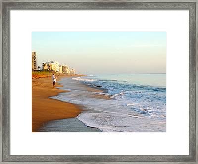 Fishing The Atlantic Framed Print