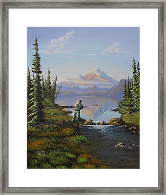 Fishing The High Lakes Framed Print