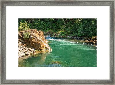 Fishing The River Framed Print