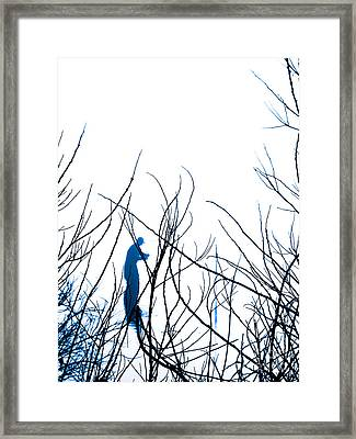 Framed Print featuring the photograph Fishing The River Blue by Robyn King