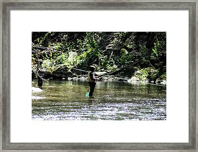 Fishing The Wissahickon Framed Print by Bill Cannon