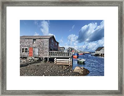 Fishing Town Framed Print by Renee Sullivan