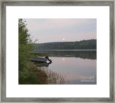 Fishing Tranquility Framed Print