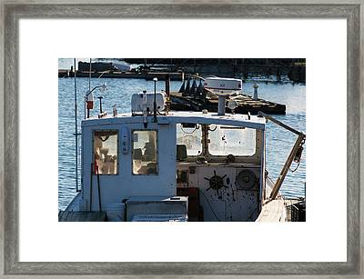 Fishing Trawler At Harbor, Lobster Framed Print by Panoramic Images