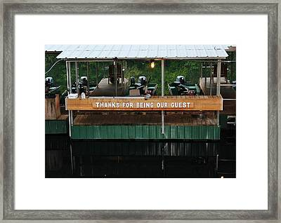 Fishing Trip Framed Print by Barbara Langdon
