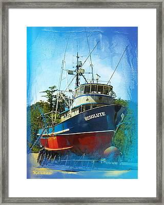 Fishing Vessel Resolute Framed Print by Sadie Reneau
