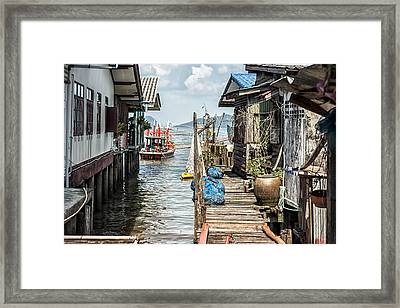 Fishing Village In Koh Lanta Thailand Framed Print
