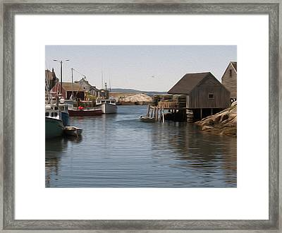 Framed Print featuring the digital art Fishing Village by Kelvin Booker