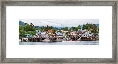 Fishing Village On Lakeshore, Sitka Framed Print