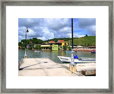 Fishing Village Puerto Rico Framed Print