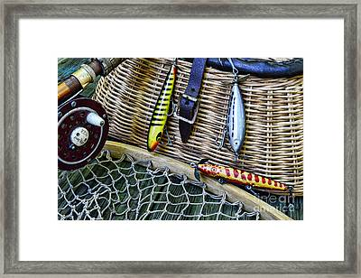 Fishing - Vintage Fishing Lures  Framed Print