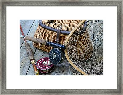 Fishing - Vintage Fishing  Framed Print