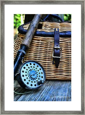 Fishing - Vintage Fly Fishing Framed Print